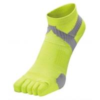 Носки спортивные Phiten Socks 5 Toe AL9173 Yellow/Gray
