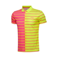 Поло Li-Ning Polo Shirt M APLL097-3 Pink/Yellow