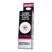 Мячи Butterfly 3* S40+ Plastic ABS x3 White