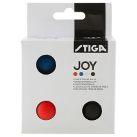 Мячи Stiga Joy 40+ Plastic ABS x4 Assorted