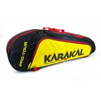 Чехол 4-6 ракеток Karakal Pro Tour Match Black/Yellow KZ97903
