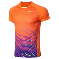 Футболка Li-Ning T-shirt M AAYP073-2 Orange/Blue