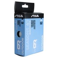 Мячи Stiga Outdoor Seasons 40+ Plastic ABS x6 White 1110-2810-06