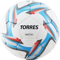 Мяч для футбола TORRES Match F3182 White/Cyan