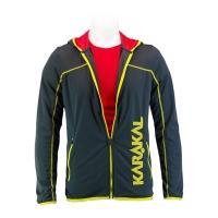 Ветровка Karakal Jacket U Pro Tour KC554 Dark Gray/Yellow