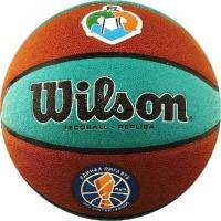 Мяч для баскетбола Wilson VTB Replica ASG ECO Brown/Cyan WTB1534XBVTB