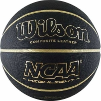 Мяч для баскетбола Wilson NCAA Highlight Gold Black/Gold WTB067519XB07