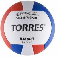 Мяч для волейбола TORRES BM800 White/Red/Blue V30025