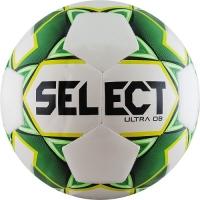 Мяч для футбола SELECT ULTRA DB White/Green 810218-004