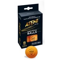 Мячи ATEMI 3* 40+ Plastic ABS x6 Orange