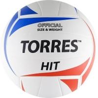 Мяч для волейбола TORRES Hit White/Cyan/Red V30055