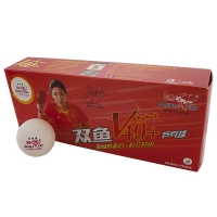 Мячи Double Fish 3* V40+ ITTF Plastic ABS x10 White V111F1