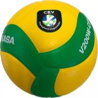 Мяч для волейбола Mikasa V200W-CEV YellowGreen