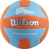 Мяч для волейбола Wilson Super Soft Play Cyan/Orange WTH90119XB