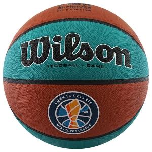 Мяч для баскетбола Wilson VTB SIBUR Gameball ECO Turquoise/Orange WTB0547XBVTB