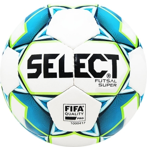 Мяч для минифутбола SELECT Futsal Super FIFA White/Cyan 850308-102