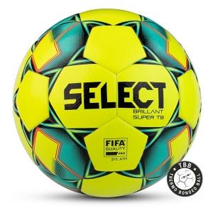 Мяч для футбола SELECT Brillant Super FIFA TB Yellow/Turquoise 810316-554