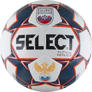 Мяч для минифутбола SELECT Futsal Replica АМФР РФС White/Dark Blue 850618-172