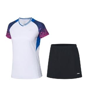 Комплект Li-Ning Kit W T-shirt+Skirt White/Black AATQ028-3