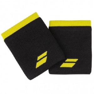 Напульсник Babolat Wristband Logo Jumbo x2 Black/Yellow 5UA1262
