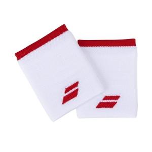 Напульсник Babolat Wristband Logo Jumbo x2 White/Red 5UA1262