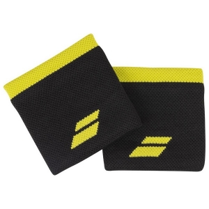 Напульсник Babolat Wristband Logo x2 Black/Yellow 5UA1261