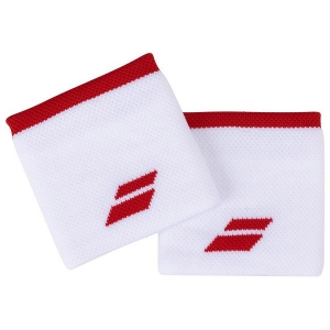 Напульсник Babolat Wristband Logo x2 White/Red 5UA1261