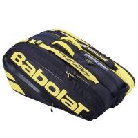 Чехол 10-12 ракеток Babolat Pure Aero Black/Yellow 751211