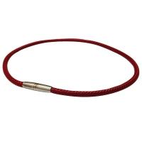 Ожерелье спортивное Phiten Rakuwa X30 High-End III Leather Touch Red