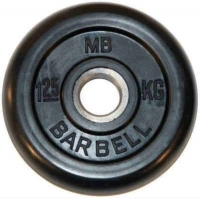 Диск обрезиненный 26mm 1.25kg MB-PltB26-1.25 MB Barbell