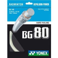 Струна для бадминтона Yonex 10m BG-80 Prepacked White