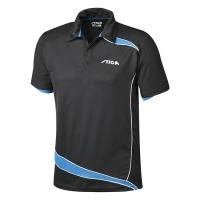 Поло Stiga Polo Shirt M Discovery Black/Cyan
