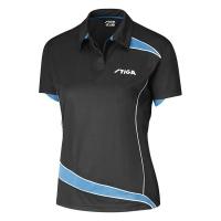 Поло Stiga Polo Shirt W Discovery Black/Cyan