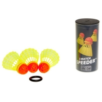 Воланы для спидминтона Speedminton SpeederTube Match x3 400223