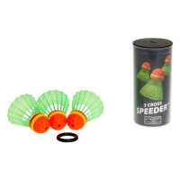 Воланы для кроссминтона Speedminton SpeederTube Cross x3 400222