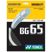 Струна для бадминтона Yonex 10m BG-65 70 Prepacked White