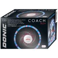 Мячи для настольного тенниса Donic Coach 40+ Plastic x120 White
