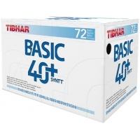 Мячи для настольного тенниса Tibhar Basic SYNTT 40+ Plastic x72 White
